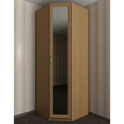 однодверный угловой шкаф с зеркалом