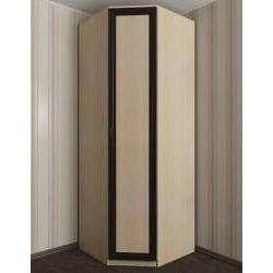 однодверный угловой шкаф для одежды