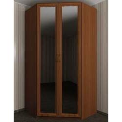 шкаф угловой для спальни с зеркалом