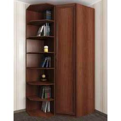 угловой шкаф со стеллажом в спальню