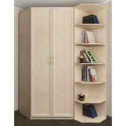 2-створчатый шкаф угловой с полками