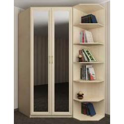 зеркальный шкаф угловой для спальни