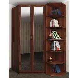 шкаф угловой с полками для спальни