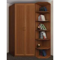 шкаф угловой с распашными дверями для спальни