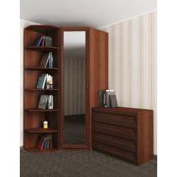 шкаф угловой со стеллажом в коридор