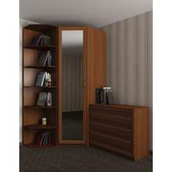 узкий шкаф угловой для спальни