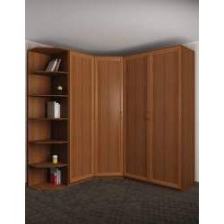 шкаф угловой с распашными дверями шириной 160-180 см