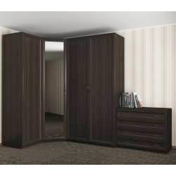угловой шкаф для одежды с комодом