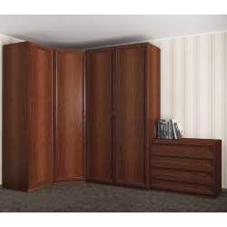 угловой шкаф с комодом в спальню