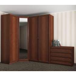 4-створчатый угловой шкаф с комодом