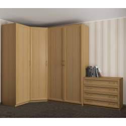 4-створчатый угловой шкаф для одежды