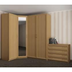 4-створчатый распашной угловой шкаф