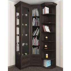 шкаф угловой цвета темный венге