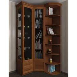 шкаф угловой со стеллажом