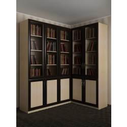 широкий угловой шкаф в кабинет