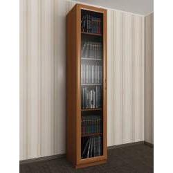 1-створчатый книжный шкаф со стеклом