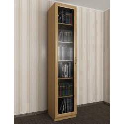 книжный шкаф со стеклом цвета бук