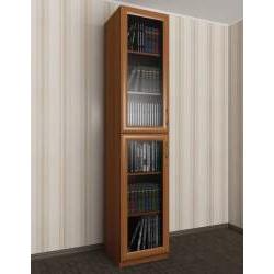 1-дверный книжный шкаф со стеклянными дверями