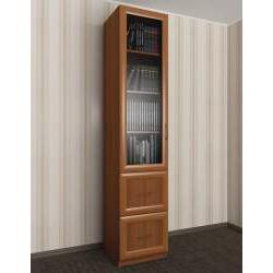 однодверный книжный шкаф с ящиками