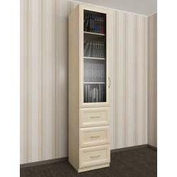 шкаф для книг пенал с выдвижными ящиками