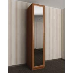 1-створчатый распашной шкаф с зеркальной дверью