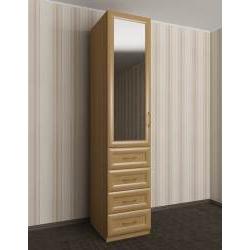 шкаф для одежды с зеркальной дверью в спальню