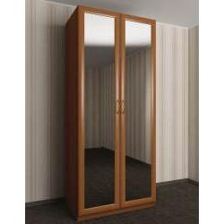 зеркальный шкаф с распашными дверцами в коридор