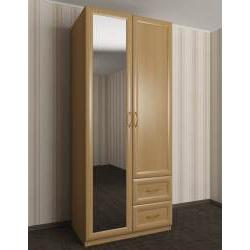 распашной шкаф в коридор с зеркалом