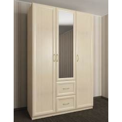 шкаф для одежды цвета молочный беленый дуб