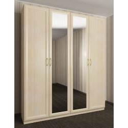 шкаф с распашными дверцами цвета молочный беленый дуб