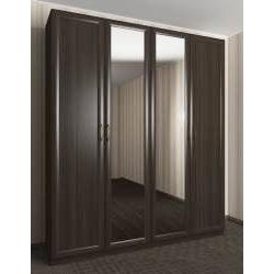 4-створчатый шкаф с распашными дверцами с зеркалом