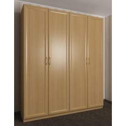 шкаф с распашными дверцами цвета бук