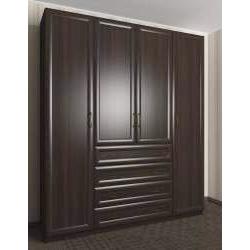 шкаф с распашными дверями цвета темный венге