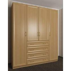 шкаф с распашными дверями цвета бук