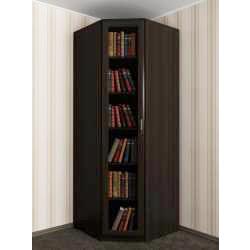 1-створчатый угловой шкаф для книг