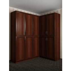 широкий шкаф угловой в коридор