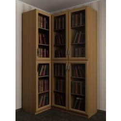 угловой шкаф со стеклянными дверями