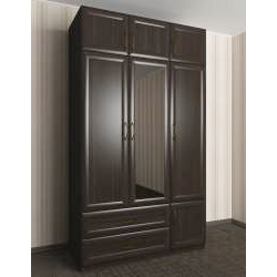 шкаф для одежды и белья цвета темный венге