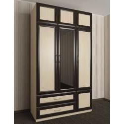 шкаф для одежды и белья цвета молочный дуб - венге