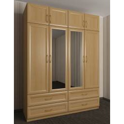 шкаф в прихожую с зеркальной дверью