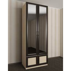 шкаф с распашными дверцами цвета молочный дуб - венге