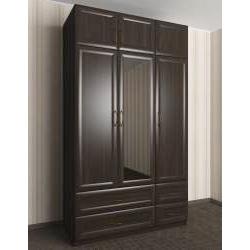 шкаф с распашными дверями в коридор с зеркалом