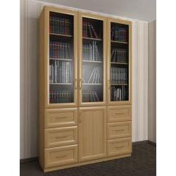 шкаф для книг с ящиками для мелочей шириной 120-135 см