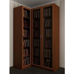 3-створчатый угловой шкаф для книг