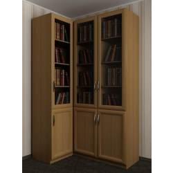 3-дверный книжный угловой шкаф