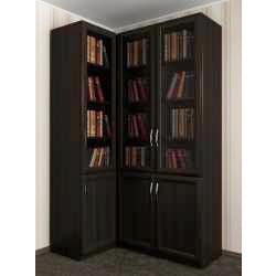 3-дверный модульный угловой шкаф