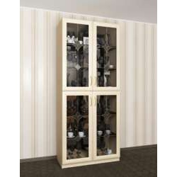 шкаф-витрина с витражом