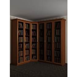 широкий угловой шкаф для книг