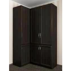 шкаф угловой с распашными дверями