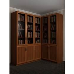 модульный угловой шкаф в кабинет